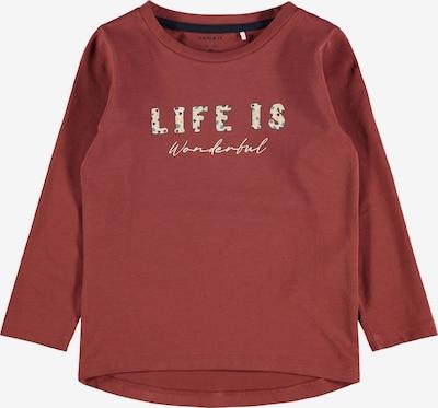 NAME IT Shirt 'Ladine' in mischfarben / rot, Produktansicht