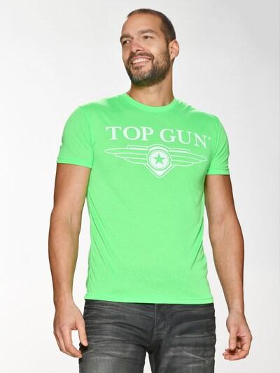 TOP GUN T-Shirt ' Radiate ' in grün: Frontalansicht