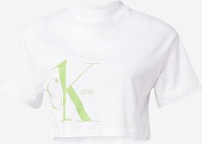 Calvin Klein Jeans T-shirt en roseau / blanc, Vue avec produit