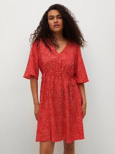 MANGO Letní šaty 'RAINBOW' - červená / bílá, Model/ka