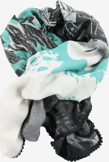 Liberty Scarf & Wrap in One size in Turquoise / Black / White, Item view