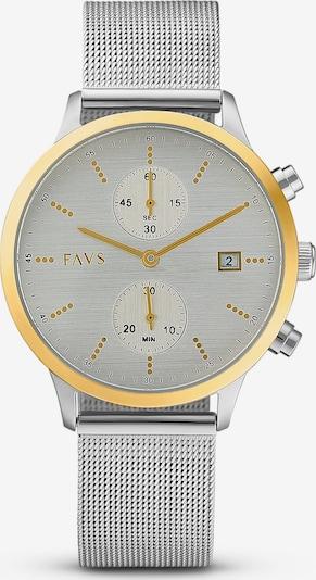 FAVS Uhr in goldgelb / silbergrau, Produktansicht