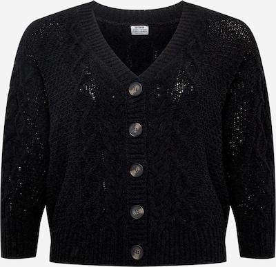Cotton On Curve Strickjacke 'CHENILLE' in schwarz, Produktansicht