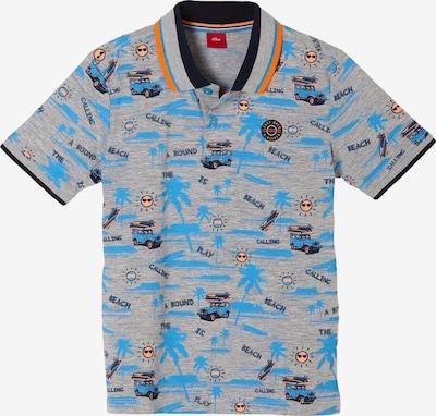 s.Oliver Poloshirt in blau / graumeliert, Produktansicht