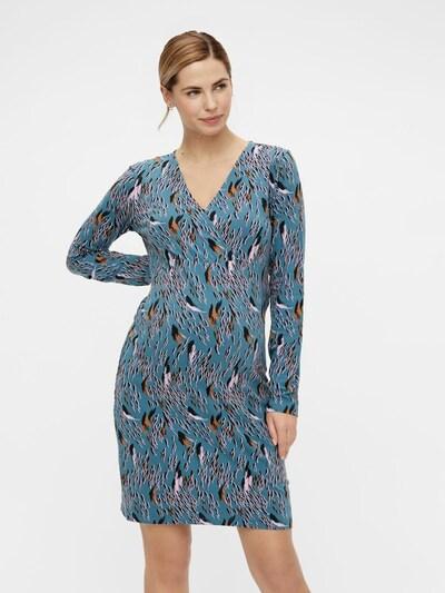 MAMALICIOUS Kleid 'Addis Tess' in cognac / petrol / rosa / schwarz, Modelansicht