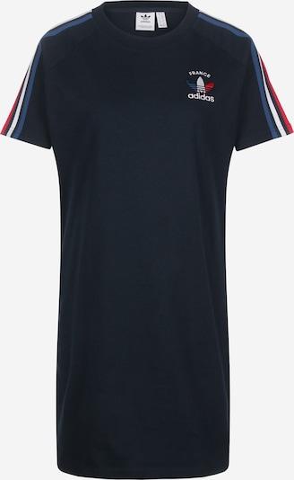 ADIDAS ORIGINALS Kleid 'Stripes' in blau / nachtblau / rot / weiß, Produktansicht