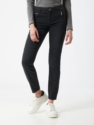 MORE & MORE Jeans 'Biker Denim' in schwarz, Modelansicht
