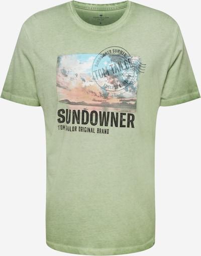 TOM TAILOR T-Shirt en vert / mélange de couleurs, Vue avec produit