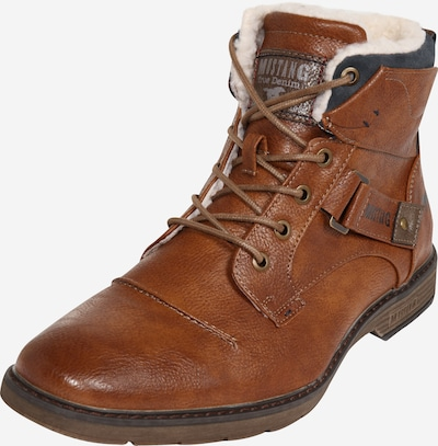 MUSTANG Šněrovací boty - koňaková, Produkt