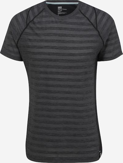 SAXX T-Shirt fonctionnel 'HOT SHOT' en noir / noir chiné, Vue avec produit