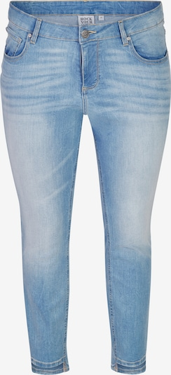 Rock Your Curves by Angelina K. Jeans in de kleur Lichtblauw, Productweergave