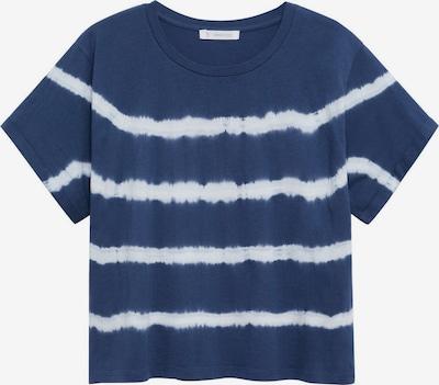 Tricou 'MATCHA' MANGO TEEN COLLECTION pe albastru închis / alb, Vizualizare produs