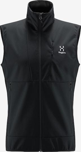Haglöfs Sportbodywarmer 'Multi Flex' in de kleur Zwart / Wit, Productweergave