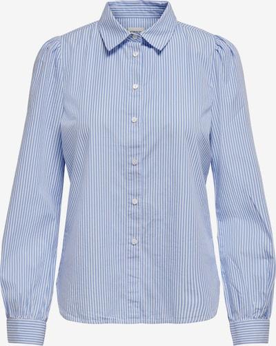 ONLY Bluse 'Betty' in rauchblau / weiß, Produktansicht