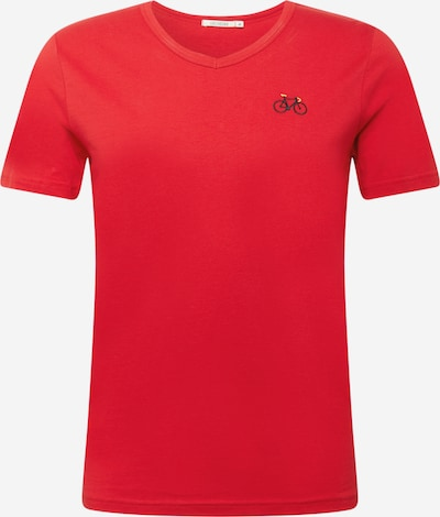 GREENBOMB T-Shirt in rot / schwarz, Produktansicht