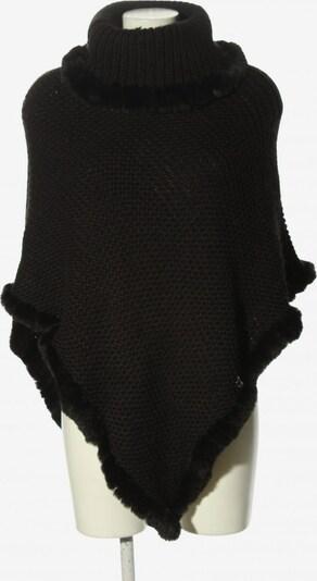 RINO & PELLE Strickponcho in XS-XL in schwarz, Produktansicht
