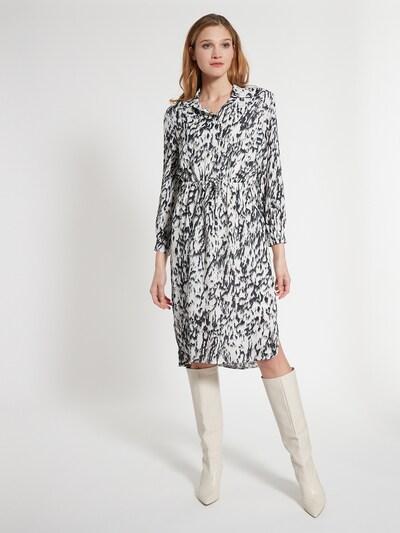 Ana Alcazar Blusenkleid 'Edoria' in schwarz / weiß, Modelansicht