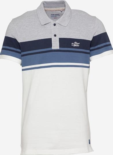 BLEND Tričko - modrá / modrosivá / sivá melírovaná / biela, Produkt