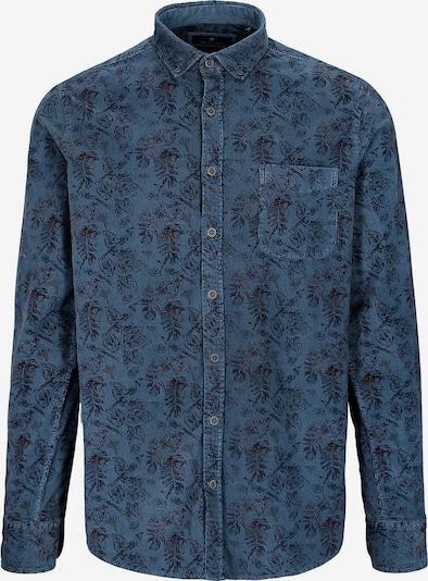 BASEFIELD Hemd in navy / himmelblau / rot, Produktansicht