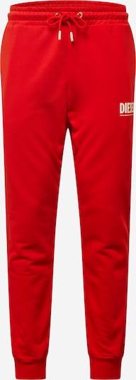 Pantaloni 'TARY' DIESEL di colore rosso chiaro / bianco: Vista frontale