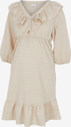 MAMALICIOUS Kleid 'Delilah' in beige / weiß, Produktansicht