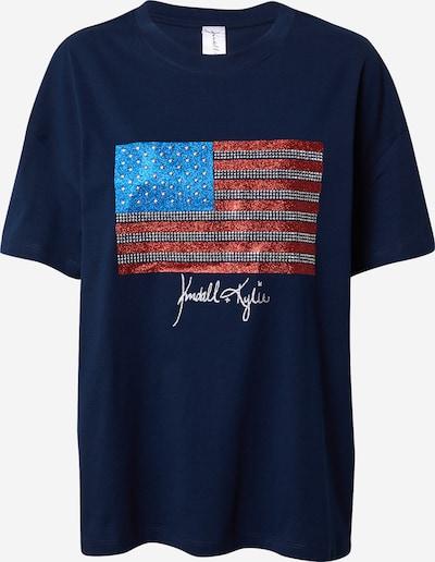 KENDALL + KYLIE Skjorte 'Flag' i navy / blandingsfarvet, Produktvisning