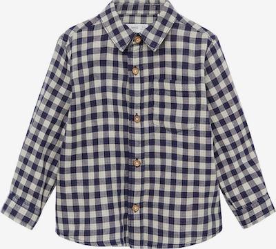 MANGO KIDS Hemd in navy / naturweiß, Produktansicht
