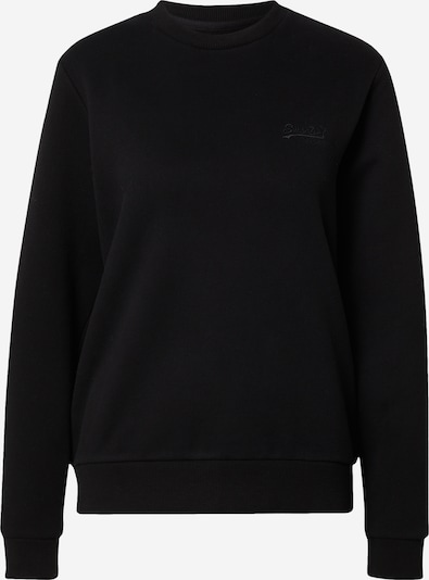 Superdry Sweatshirt in schwarz: Frontalansicht