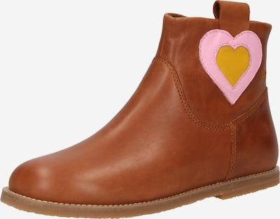 CAMPER Stiefel 'Twins' in braun / gelb / rosa, Produktansicht