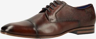 bugatti Chaussure à lacets en bleu / brun foncé, Vue avec produit