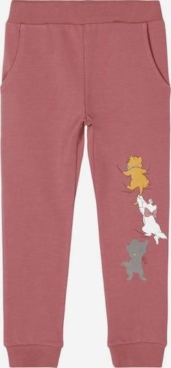 Pantaloni 'ARISTOCATS' NAME IT pe galben / gri închis / roze / alb, Vizualizare produs