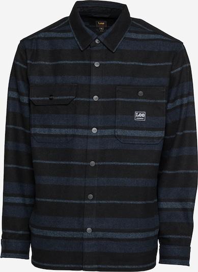 Lee Hemd in taubenblau / dunkelblau / blaumeliert, Produktansicht