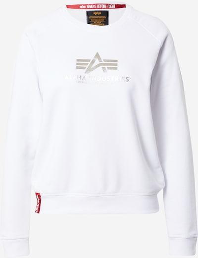 ALPHA INDUSTRIES Sweatshirt in rot / silber / weiß, Produktansicht