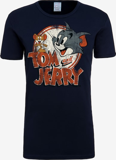 LOGOSHIRT T-Shirt 'Tom & Jerry' in dunkelblau, Produktansicht
