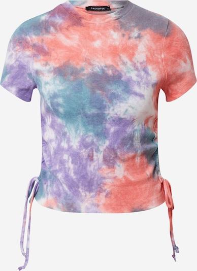 Trendyol Tričko - modrá / fialová / pastelově červená / bílá, Produkt