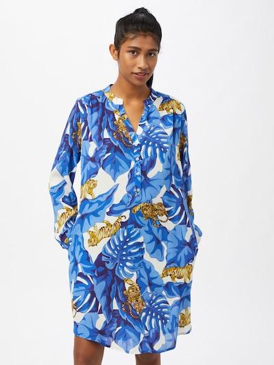 Emily Van Den Bergh Košulja haljina u plava / mornarsko plava / smeđa / bijela, Prikaz modela