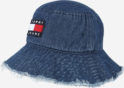 Tommy Jeans Шапка с периферия в синьо / нейви синьо / червено / бяло, Преглед на продукта