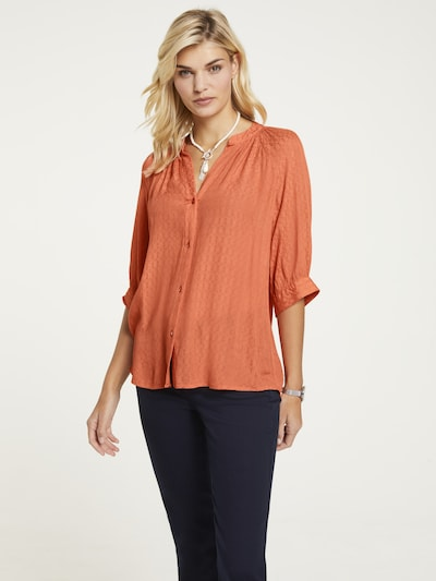 heine Bluse 'Linea Tesini' in mandarine, Modelansicht