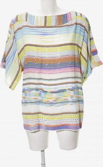 La Perla Kurzarm-Bluse in S in pastellgelb / hellorange / pink, Produktansicht