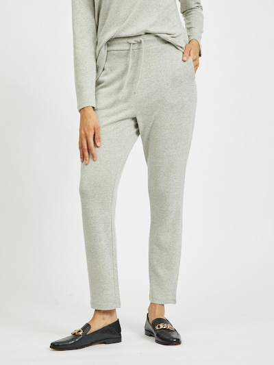 VILA Pantalon 'Lune' en gris clair, Vue avec modèle