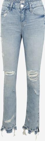 River Island Petite Jeans 'PETITE LONG SLIM BLEACH OUT ' in Blue