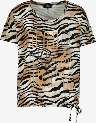 Tricou monari pe bej / negru / alb, Vizualizare produs
