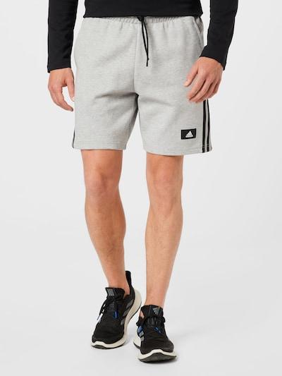 ADIDAS PERFORMANCE Športové nohavice - svetlosivá / čierna / biela, Model/-ka
