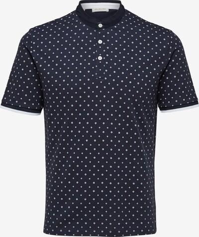SELECTED HOMME Tričko - námornícka modrá / biela: Pohľad spredu