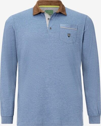 Charles Colby Shirt ' Earl Terry ' in de kleur Blauw / Bruin, Productweergave