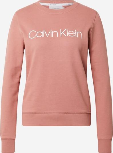 Calvin Klein Блузон с качулка в антично розово / бяло, Преглед на продукта