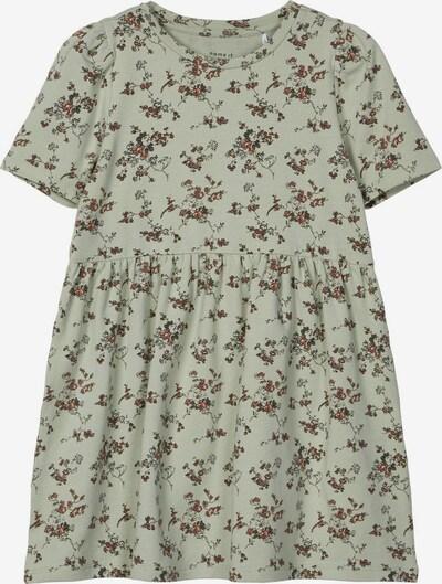 NAME IT Blumenprint Baumwoll Kleid in hellgrün, Produktansicht