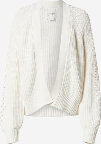 Abercrombie & Fitch Strickjacke in Weiß