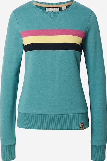 Fli Papigu Sweatshirt 'It is what it is' in Turquoise / Light yellow / Pink / Black, Item view