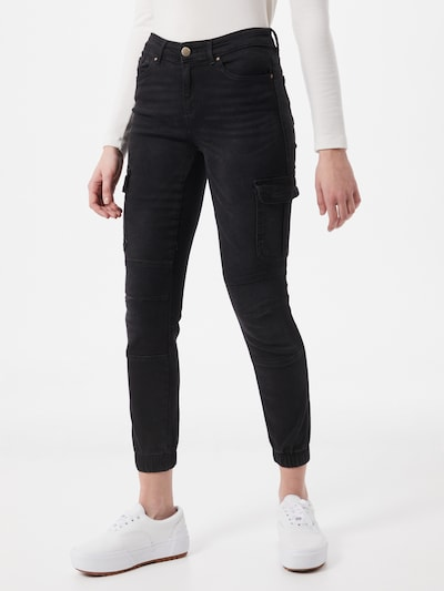 ONLY Cargo jeans 'Missouri' in Black, View model